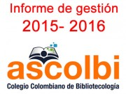 Informe de gestión Ascolbi 2015-2016